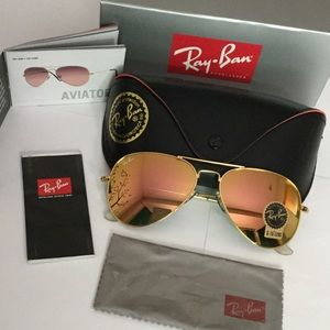 Ray Ban Aviator rose gold RB3025